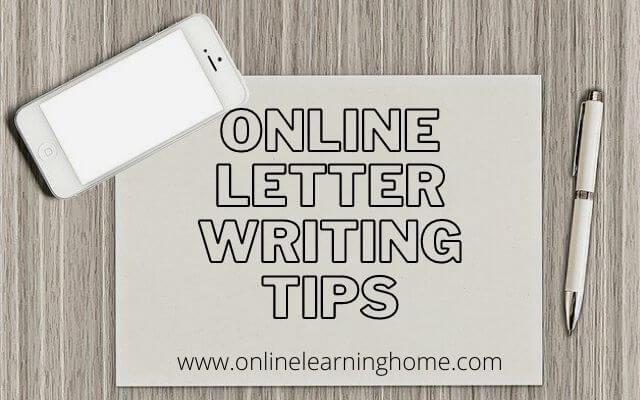 Online Letter Writing Tips